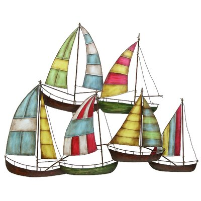 Colorful Sail Boats Wall Decor