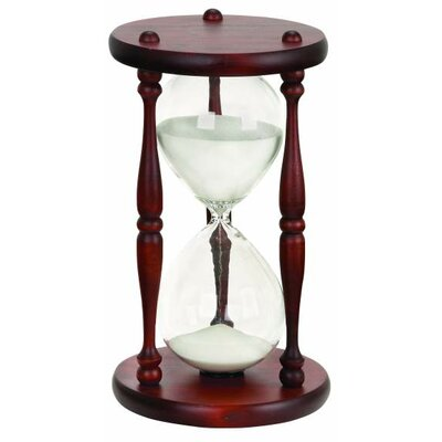 New traditional Wood and Glass 60-Minute Hourglass