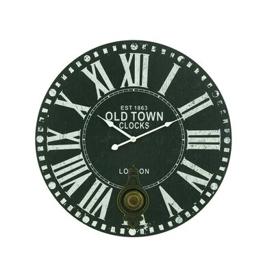 23 London Clock with Roman Numerals