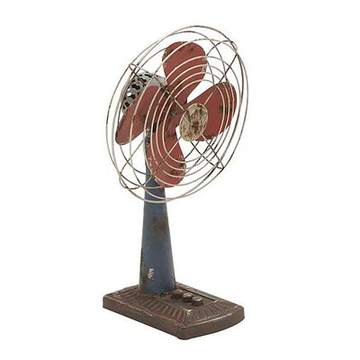 ABCHomeCollection Decorative Rustic Iron Table Fan