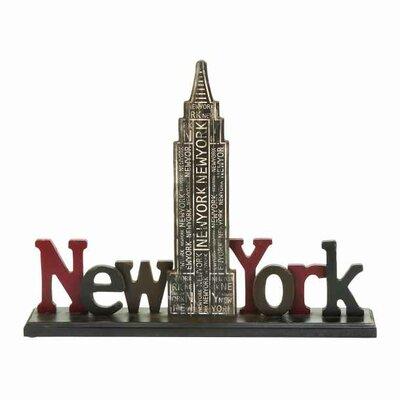 New York Table Sign Letter Block