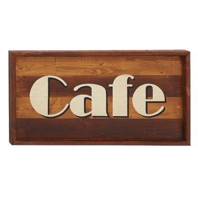 Wooden Cafe Sign Wall Décor