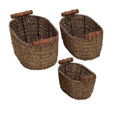 3 Piece Wicker Basket Set