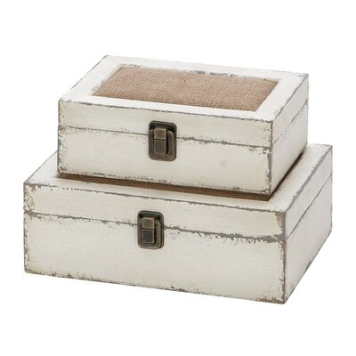 2 Piece Alluring Wooden Box Set
