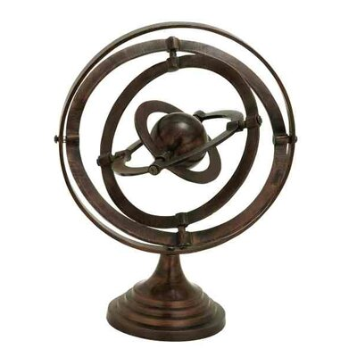 Nautical Rustic Armillary Cloches And Water Globe Sculpture