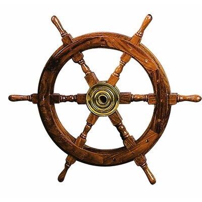 Captain's Nautical Wooden Ship Wheel Wall Décor