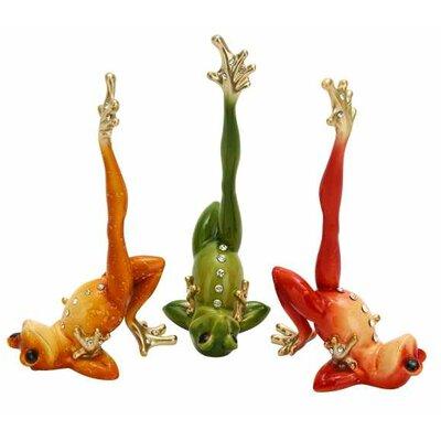 Vibrant Frog Sculpture 24574
