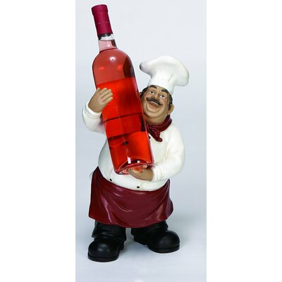 Handy Chef Wine Holder Figurine