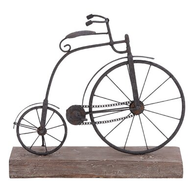 Classic High Wheel Bicycle Statue