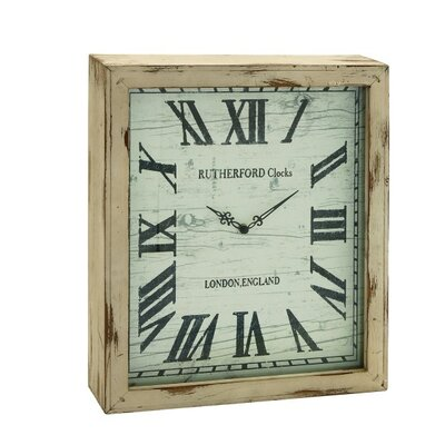 Distressed Wood Wall Clock