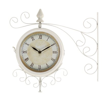 Wrought-Iron Outdoor Wall Clock
