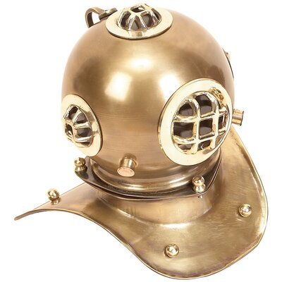 Vintage Brass Diving Helmet Sculpture 27770