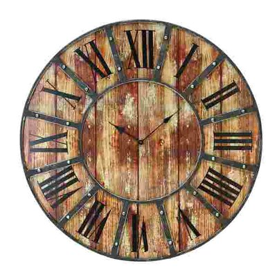 24 Wooden Plank Wall Clock