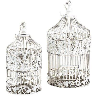 2 Piece Elegant Victorian Style Bird Cage Set