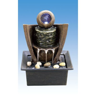 Image of Ceramic Table Fountain with Light