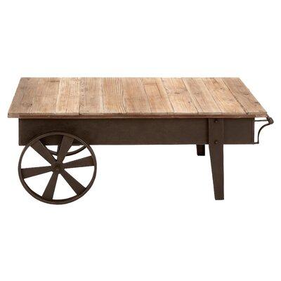 Metal Wood Coffee Table