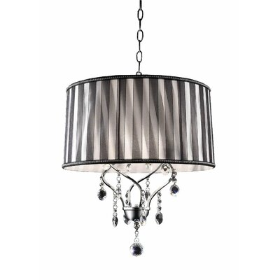 Jamal Lady Crystal 1 Light Drum Chandelier