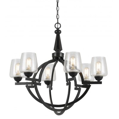 Keagan 6-Light Shaded Chandelier