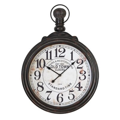 "Oversized Mae Pocket Watch Style 28"" Wall Clock STSS1222 38770584"
