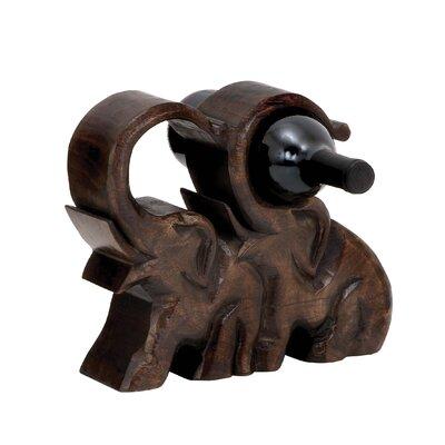 Caresse Wood Elephant Wine Holder