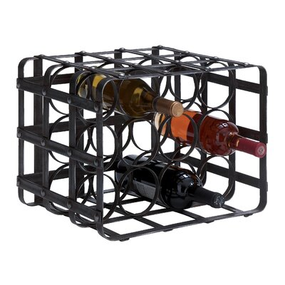 Ellis Metal 12 Bottle Tabletop Wine Bottle Rack
