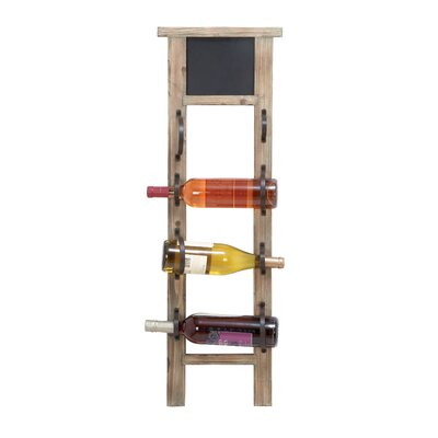 Shemica Chalkboard 4 Bottle Wall Mounted Wine Bottle Rack