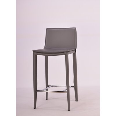 24 inch Bar Stool Upholstery: Gray