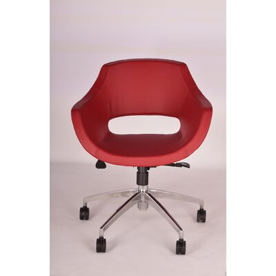 Mid-Back Office Chair Upholstery: Red