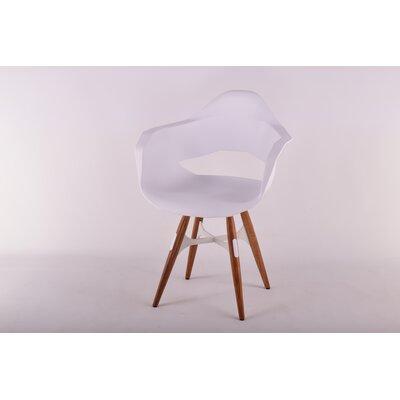 ZigZag Arm Chair Finish: Walnut