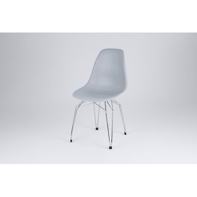 Diamond Side Chair Finish: Gray, Frame Finish: Chrome