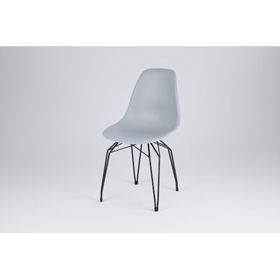 Diamond Side Chair Finish: Gray, Frame Finish: Black