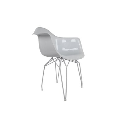 Diamond Arm Chair Finish: High Gloss White