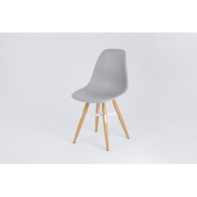 ZigZag Side Chair Finish: Gray, Frame Finish: Natural