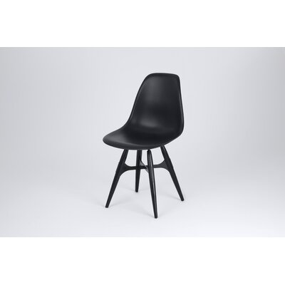 ZigZag Side Chair Finish: Black, Frame Finish: Natural