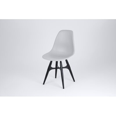 ZigZag Side Chair Finish: Gray, Frame Finish: Black