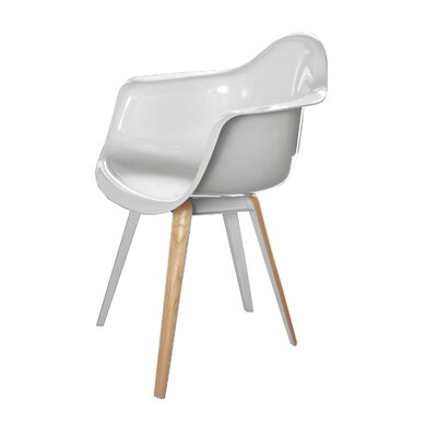 Slice Solid Wood Dining Chair Finish: High Gloss White