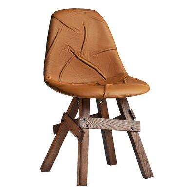 Pop Genuine Leather Upholstered Dining Chair