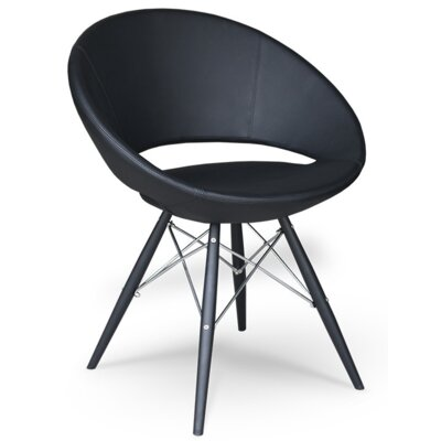 Lunar Side Chair Upholstery Type - Color: Black