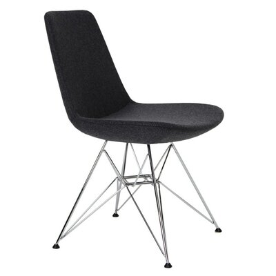 Electra Tower Side Chair Upholstery: Charcoal