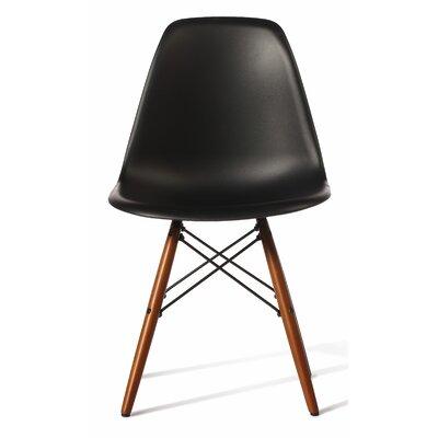 Guardhouse Side Chair (Set of 4) Frame Finish: Black, Leg Finish: Walnut