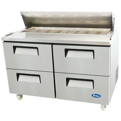 Refrigerated Four-Drawer Sandwich Prep Table
