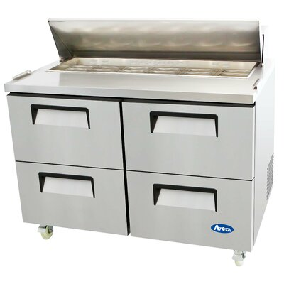 48 Refrigerated Four-Drawer Sandwich Prep Table