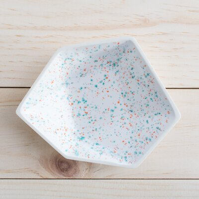 Large Geometric Ring Dish In Sprinkles