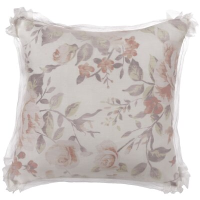 Antoinette Floral Cotton Throw Pillow