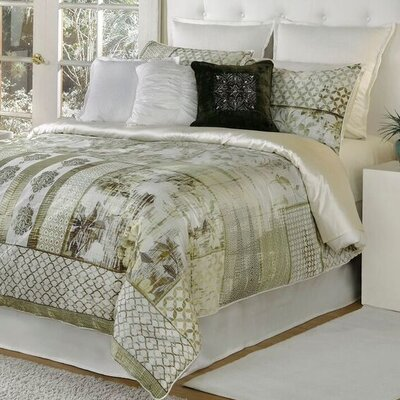 Quinn 4 Piece Comforter Set Size: Queen, Color: Beige