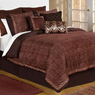 Jade 4 Piece Comforter Set Size: King