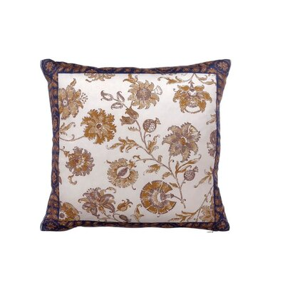 Isabella Floral Cotton Throw Pillow