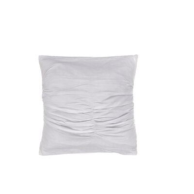 Quinn Ruched Cotton Throw Pillow Color: Blue