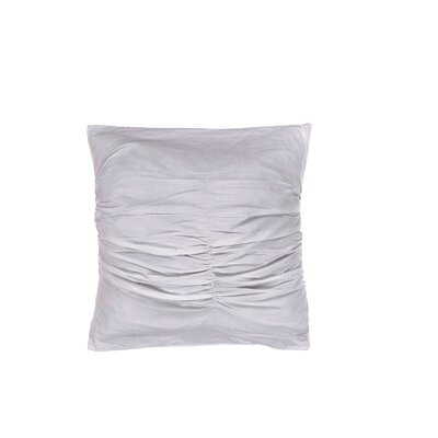 Quinn Ruched Cotton Throw Pillow Color: Beige