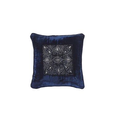 Quinn Velvet Throw Pillow Color: Blue